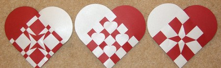Christmas Paper Hearts