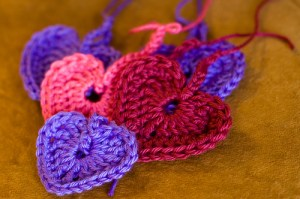 Crocheted Hearts, Copyright Simplebeans