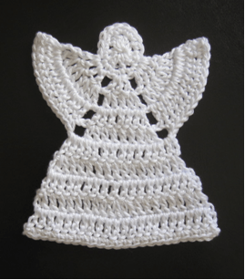Crocheted Angel Ornament by Phyllis of Many Creative Gifts (www.favecrafts.com)