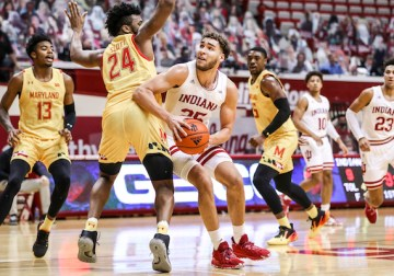 Indiana cleans up the glass, ignites the offense in the second half to beat Maryland