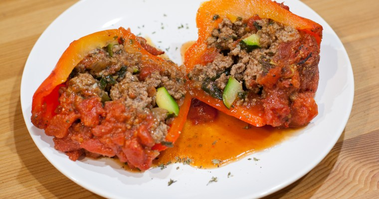 Beef and Vegetable Stuffed Peppers