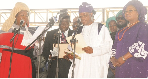 Oyetola sworn-in, promises to develop Osun