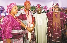 Tinubu, Akande, Ooni, others grace Akeredolu daughter's wedding