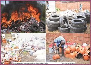 SON destroys substandard goods in Akure