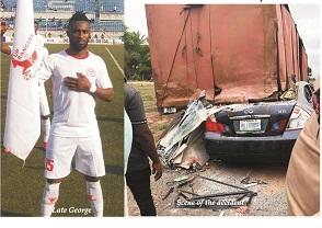 Rangers striker, Ifeanyi George dies in car accident