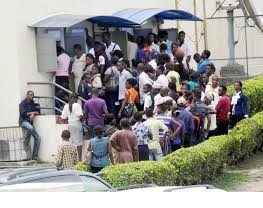 Bank customers in panic withdrawals