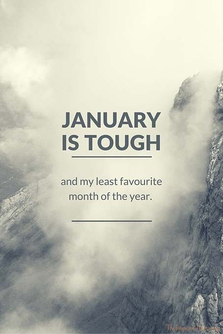 Why people see January  as a tough month