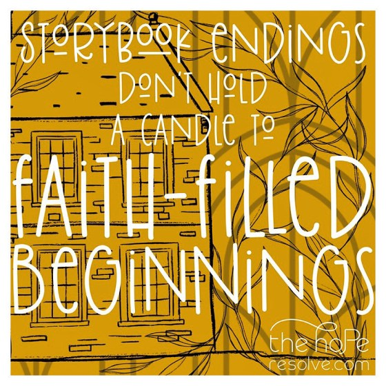 faith-filled beginnings by the hope resolve