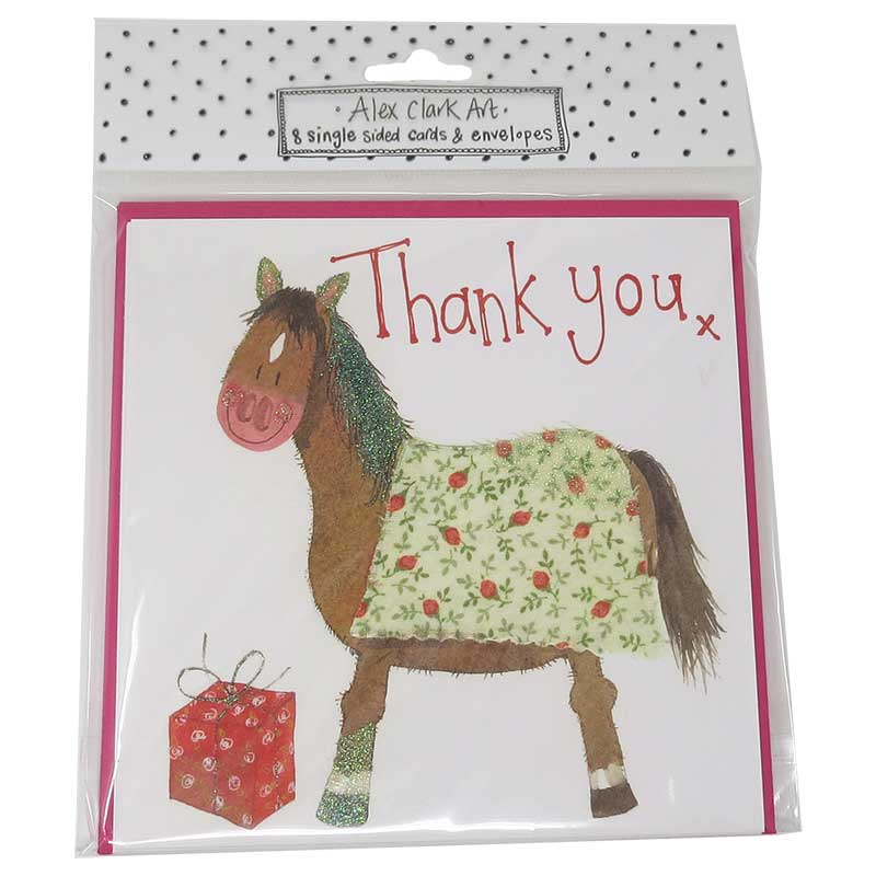Horse Thank You Cards Pack Of 8 The Horse Diva