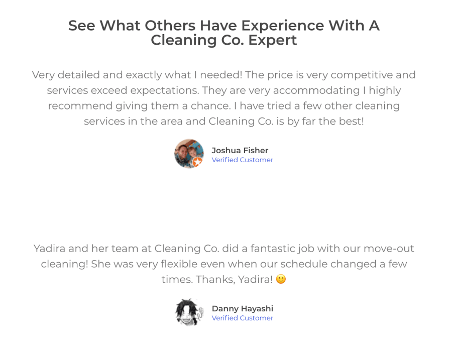 See how easy it is to add testimonials to your landing page.