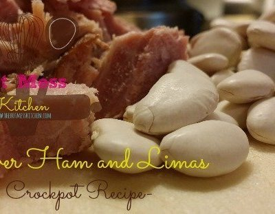 Leftover Ham and Limas  -Crock pot Recipe-