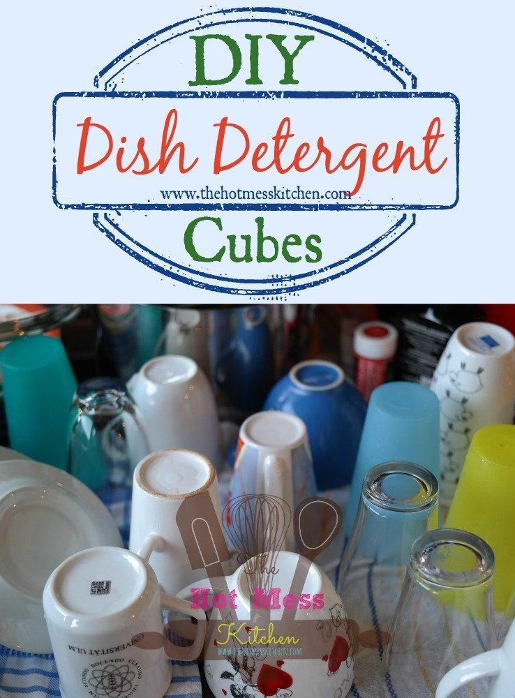 DIY Dish Detergent Cubes