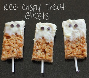 rice crispy ghost treats