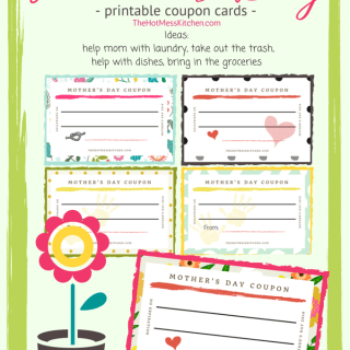 mothers day printable coupon cards freebie