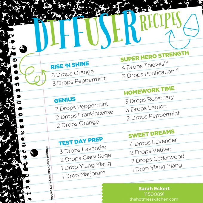Diffuser Recipes - Young Living - TheHotMessKitchen