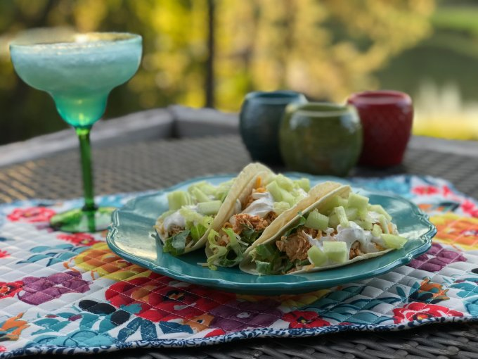 Lime Vitality Sour Cream Chicken Tacos - thehotmesskitchen.com