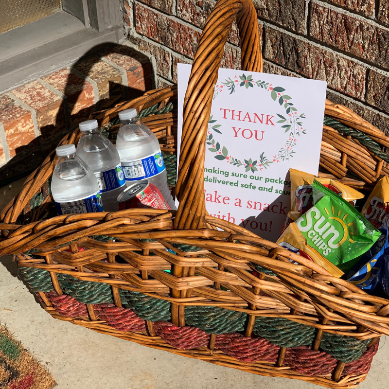 Courier Thank You Basket