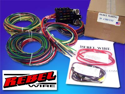 rebel wire 21 circuit wiring harness the hot rod company rh thehotrodcompany com Honda Rebel Chopper Wiring Rebel Wiring Harness Diagram