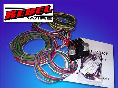 rebel wire 8 circuit wiring harness the hot rod company rh thehotrodcompany com universal 8 circuit wiring harness