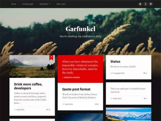 unique wordpress blog themes
