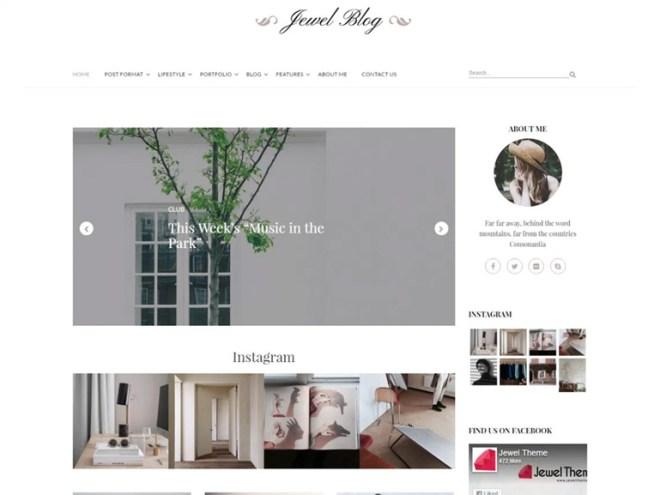wordpress jewel blog themes