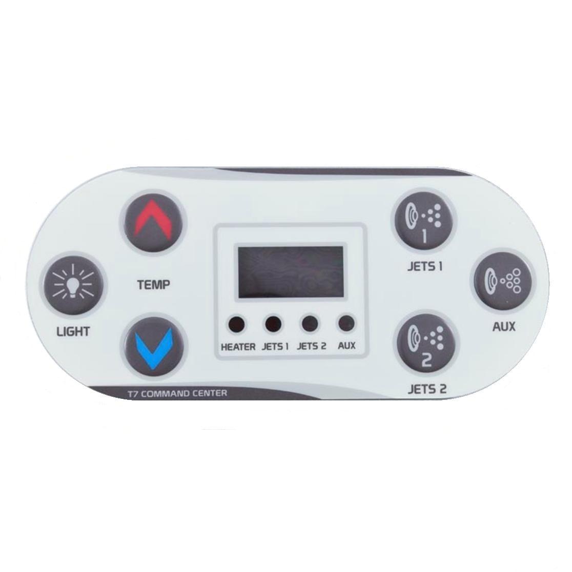 United Spa T7 Control Keypad Overlay
