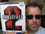 Eric Bazerghi and his copy of Battlefield 2