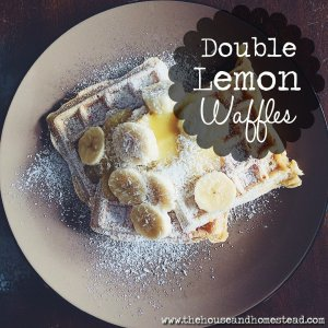 Double Lemon Waffles