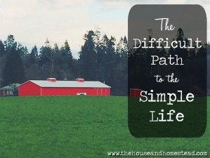 The Difficult Path to The Simple Life