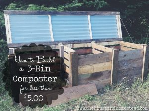 How to Build a 3-Bin Composter for Less Than $5