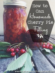 How to Can Homemade Cherry Pie Filling