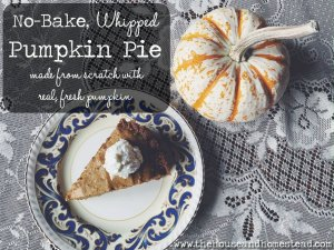 No-Bake Whipped Pumpkin Pie (Made from Scratch with Real, Fresh Pumpkin)