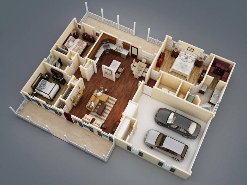 What Makes a Split Bedroom Floor Plan Ideal    The House Designers affordable ranch house plan
