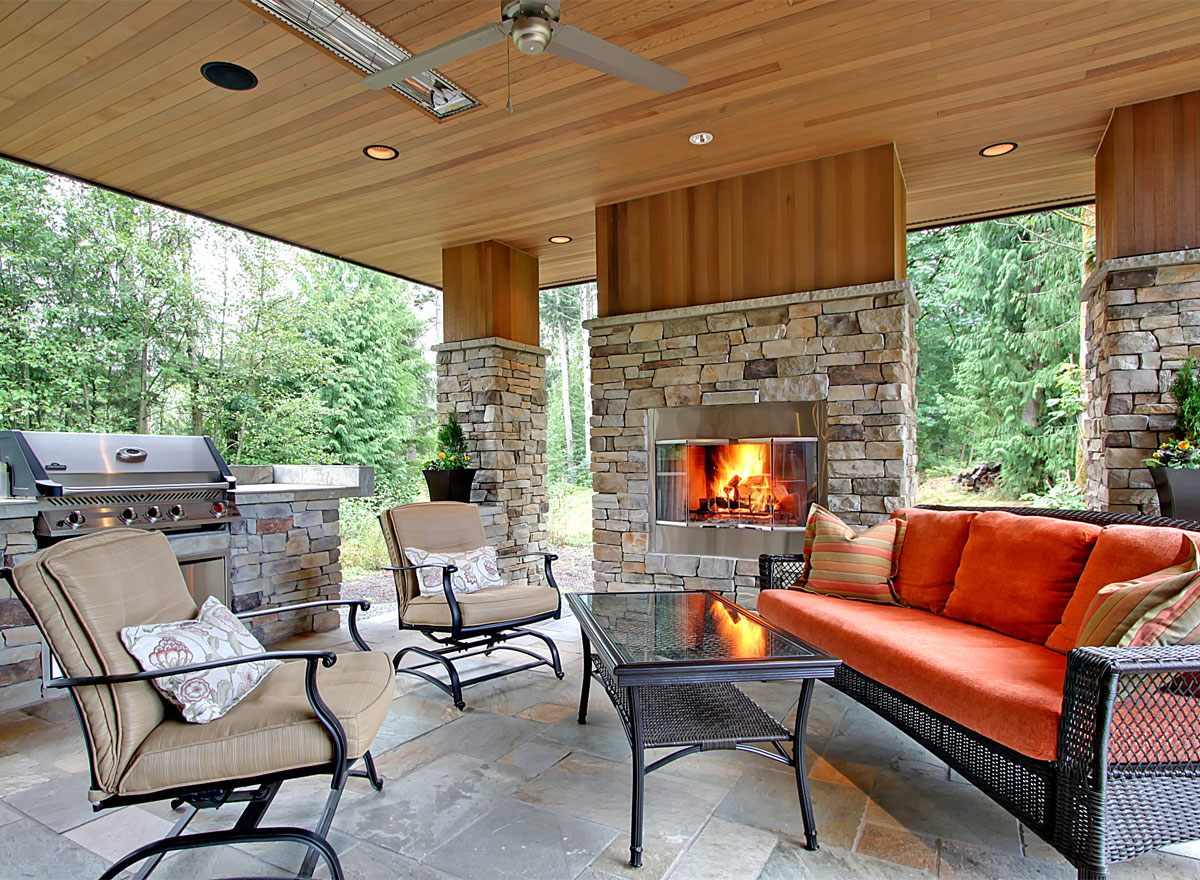 Designing a Great Outdoor Kitchen - The House Designers on Outdoor Kitchen And Fireplace Ideas id=87532