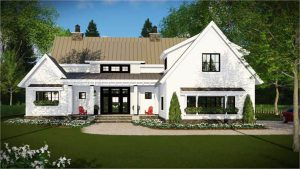New Farmhouse Plans for 2018   The House Designers Farmhouse Plan 3030  The Walton   2 Stories  4 Bedrooms  3 1 Bathrooms