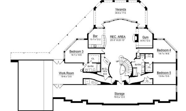 Avanleigh Estate 6009 4 Bedrooms And 4 Baths The House Designers   Dual Staircase House Plans   Colonial   Design   Upstairs Master Suite House   Luxury Library 5 Bed House   Medium Size
