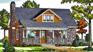 Lake House Plans   Home Designs   The House Designers image of CRAFTSMAN COTTAGE House Plan