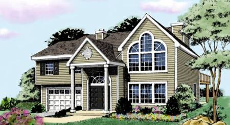 Split Level House Plans   Home Designs   The House Designers Featured Home Design  House Plan 3387