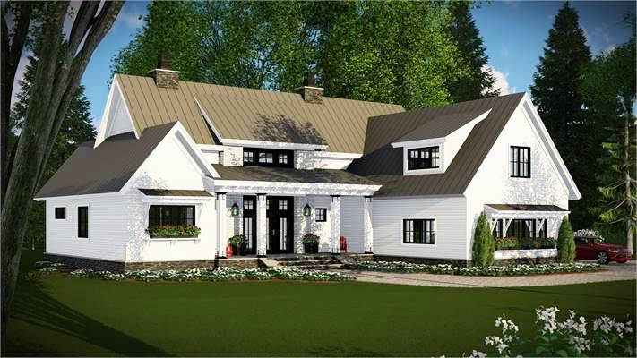 Country House Plan With A New American Feel
