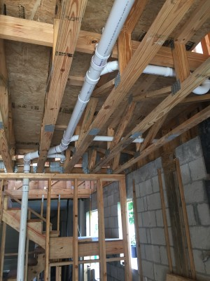 plumbing in our house remodel