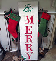 Reader DIY Christmas Sign