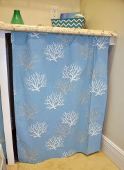 DIY Curtain to cover litter box