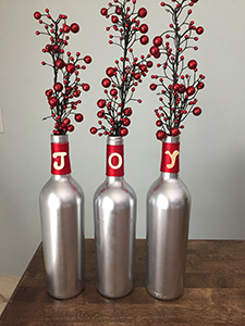 DIY Wine Bottle Christmas Craft