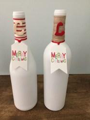 DIY Christmas Wine Bottle