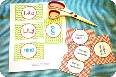 Diy Personalized Bag Tags And Printables For Lunch Box And Backpack The House Of Hendrix