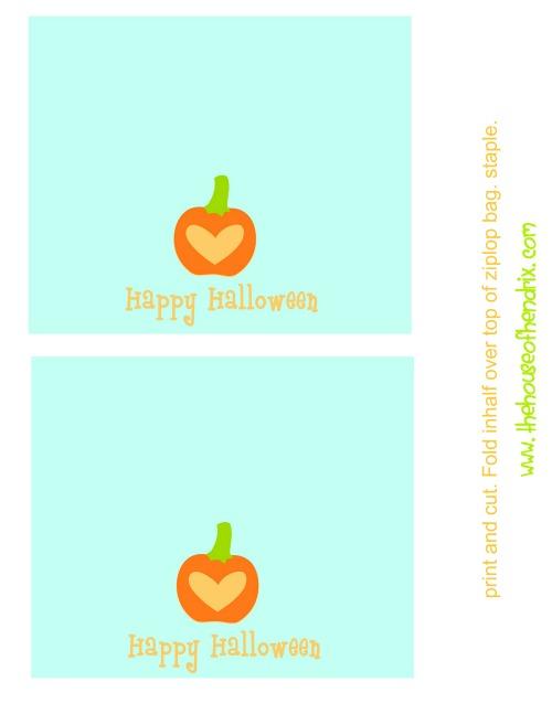 Halloween printable bag topper