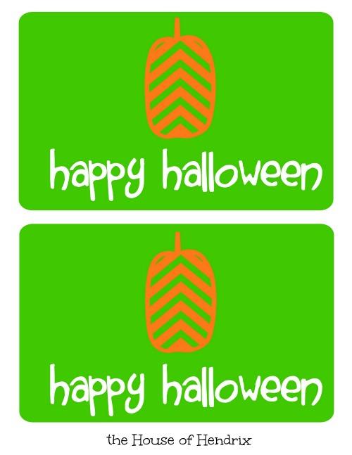 green Halloween Printable