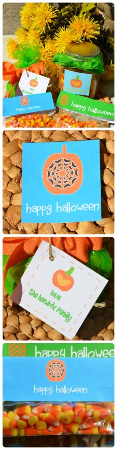 Keep it simple yet personal this Halloween. Free Printables to use as a sticker, a tag, or on top of a ziplock for a Halloween treat.