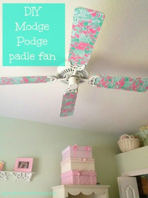 DIY Paddle Fan makeover in 60 minutes {the House of Hendrix)