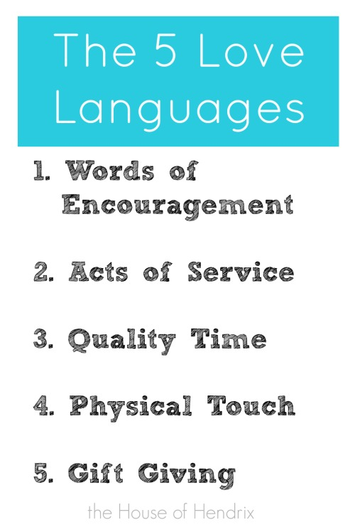 5 languages of love words of affirmation